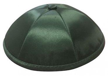 Dark Green Deluxe Six-Panel Satin Wedding Kippah $42 per dozen. Free personalization with purchase of six dozen or more.