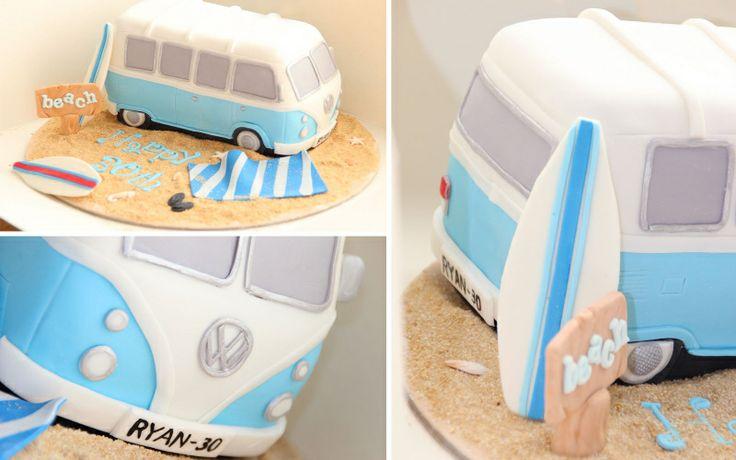 how to make a vw bus cake