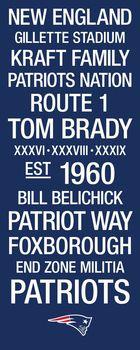 New England Patriots Subway Art with Logo Picture at New England Patriots Photo Store