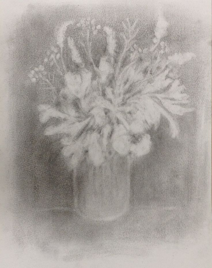 Posy from Leila's garden - Graphite on 110gsm paper Lisa McGregor