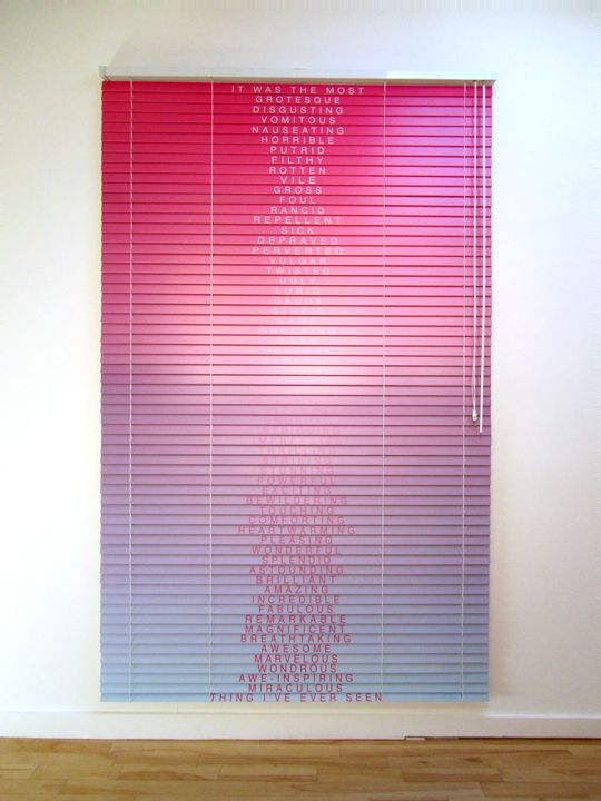 Digital Print Directly To Wood Venetian Blinds By Artist