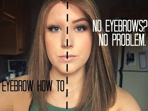 How To Fill In Eyebrows When You Have No Hair | ALOPECIA VERSION - YouTube