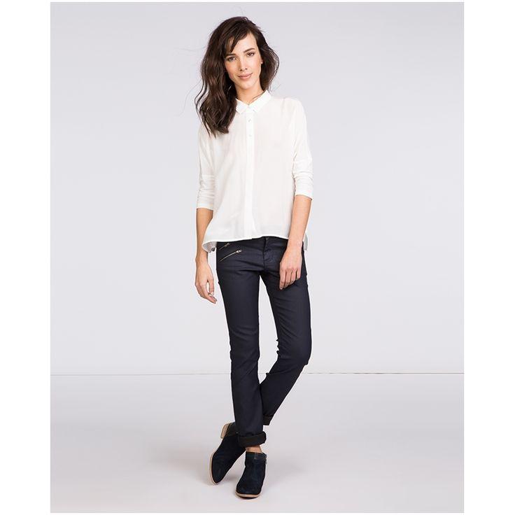 Beschichtete Jeans.