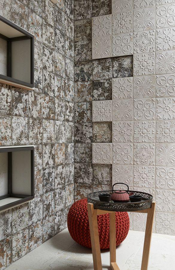 Retro obklady Aged imitující stará kamna | Keramika Soukup