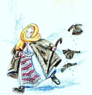 Baba Dochia - Romanian mythological character who symbolizes the return to Spring