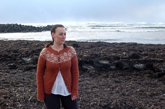 Ravelry: Ryðrauð pattern by Steinunn Birna Gudjonsdottir an Icelandic sweater design