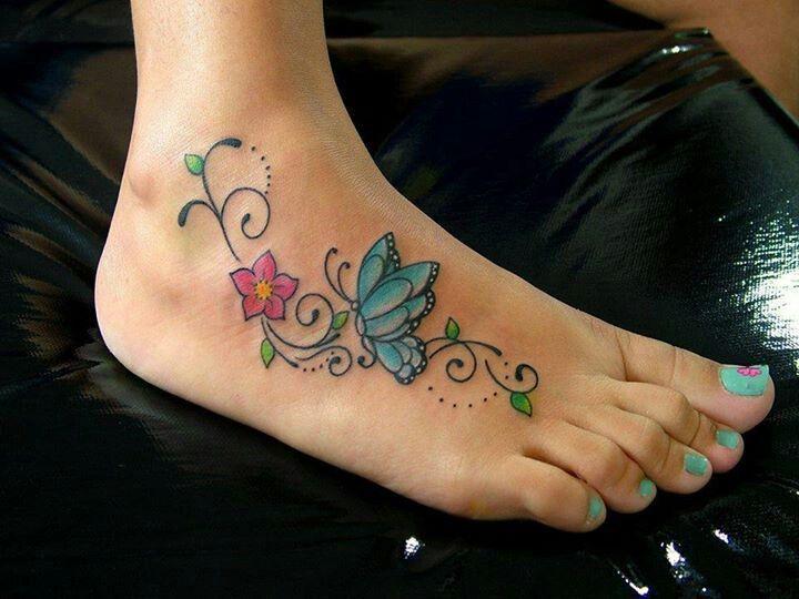 2b9b2f453cd520ef3f697811ff10fabf.jpg (720×540) | Tatuagem de borboleta no pé, Tatuagem 3d, Tatuagens no pé