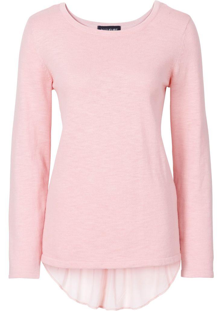 Pullover 2 in 1 Rosa antico - BODYFLIRT è ordinabile nello shop on-line di bonprix.it da ? 19,99. Grazioso pullover in bellissimo look a strati, con peplum ...