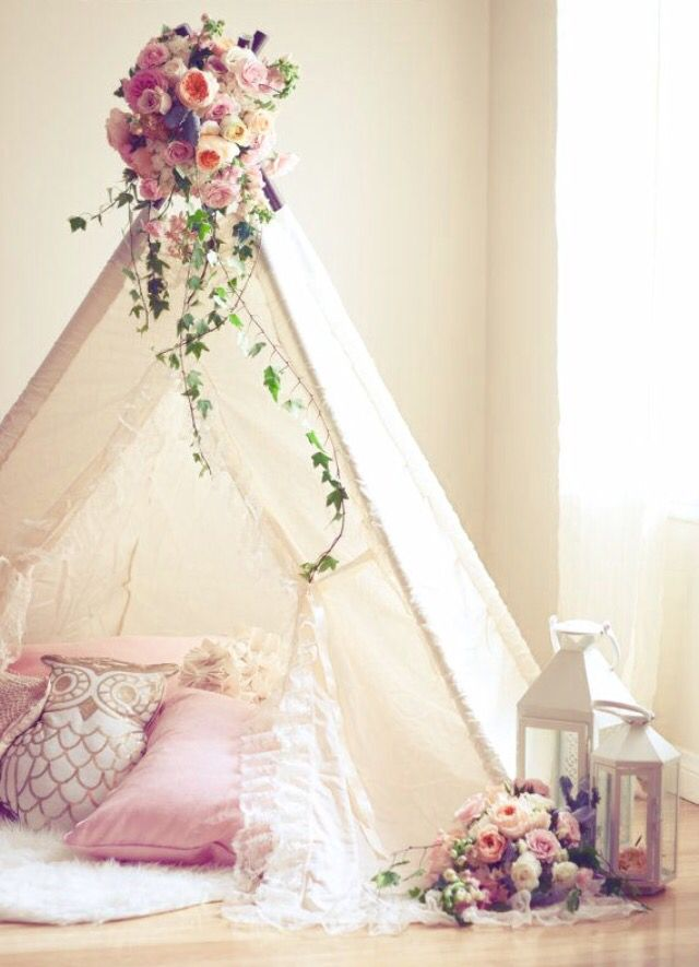 Lace teepee tent for kids!