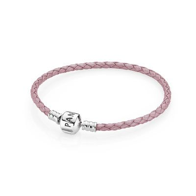 PANDORA | Bracelet Leather Pink Single w/Silver Clasp (I HAVE THIS ONE)