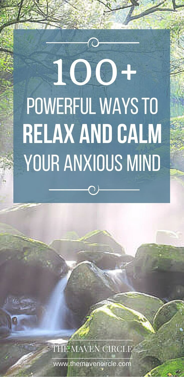 how to help someone with anxiety relax
