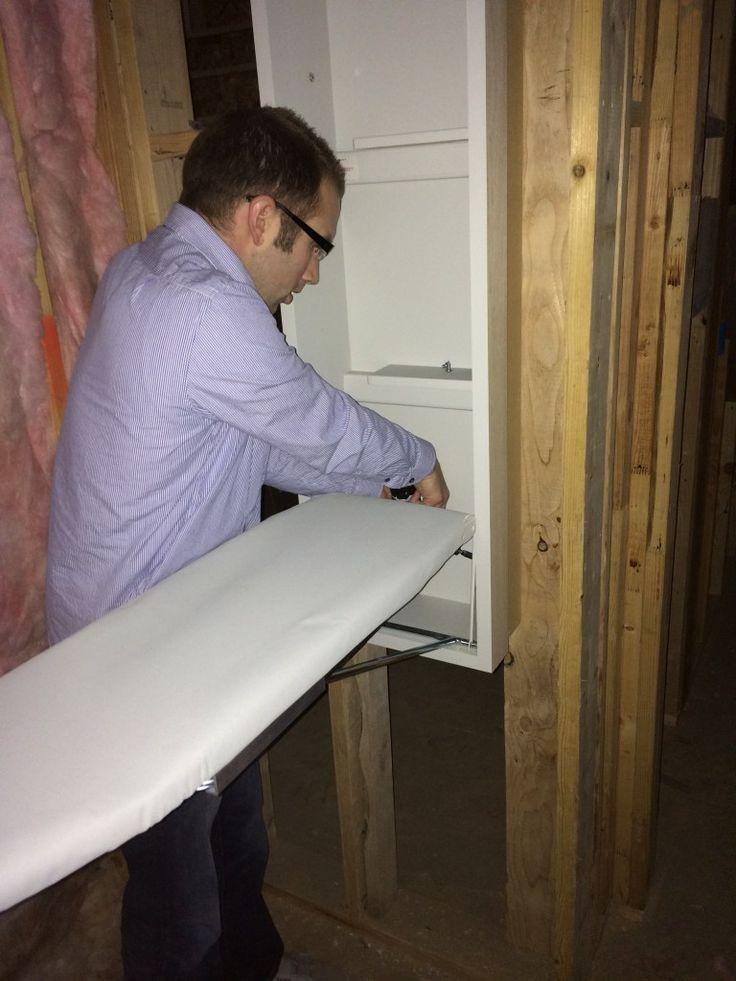 17 best images about built in ironing board on pinterest. Black Bedroom Furniture Sets. Home Design Ideas