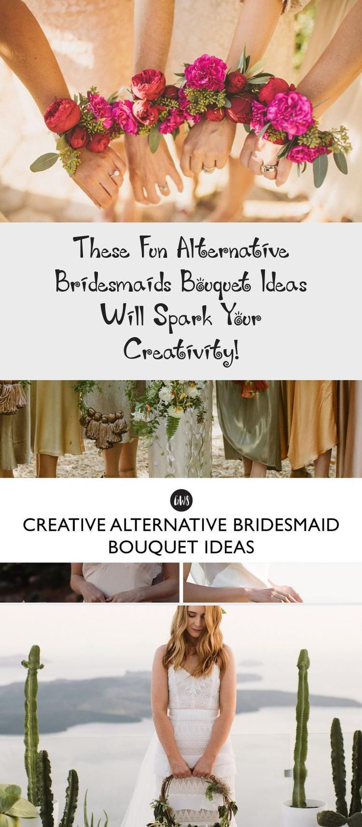 These Fun Alternative Bridesmaids Bouquet Ideas Will Spark Your Creativity! - Green Wedding Shoes #AfricanBridesmaidDresses #LilacBridesmaidDresses #BlushBridesmaidDresses #SatinBridesmaidDresses #BridesmaidDressesPastel