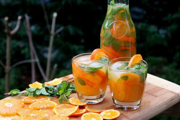 Apéritif mojito de mandarine, tangerine ou clémentine