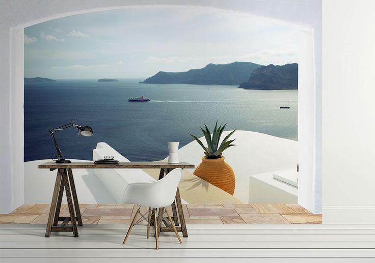 Wyspa Santorini, Grecja (okno) - fototapeta | Sklep ePlakaty.pl