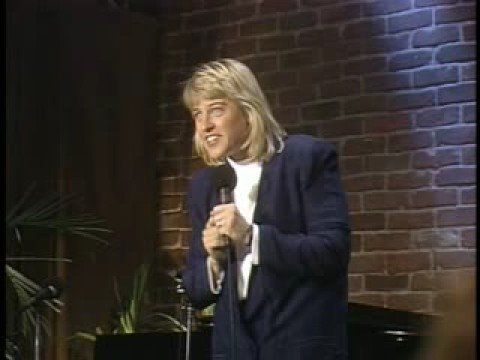 Ellen Degeneres old stand up - massage, flying Video 7 min. She has LONG hair in this!