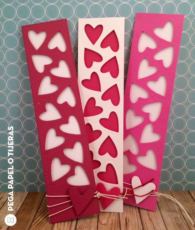 Hearts bookmarks