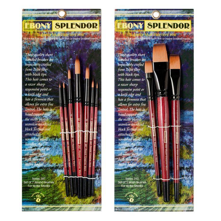 Ebony splendor brush sets hair