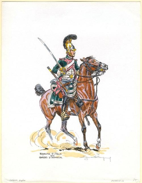 honour guard, kingdom of Italy, 1812