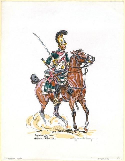honour guard, kingdom of Italy, 1812