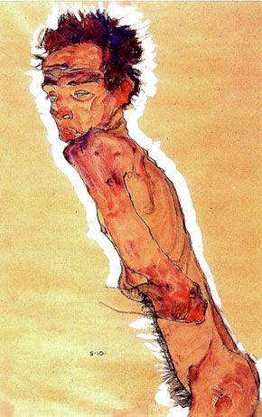Autoportrait Nu (Egon Schiele, 1910) - [Autoportrait Nu (Egon Schiele, 1910)]