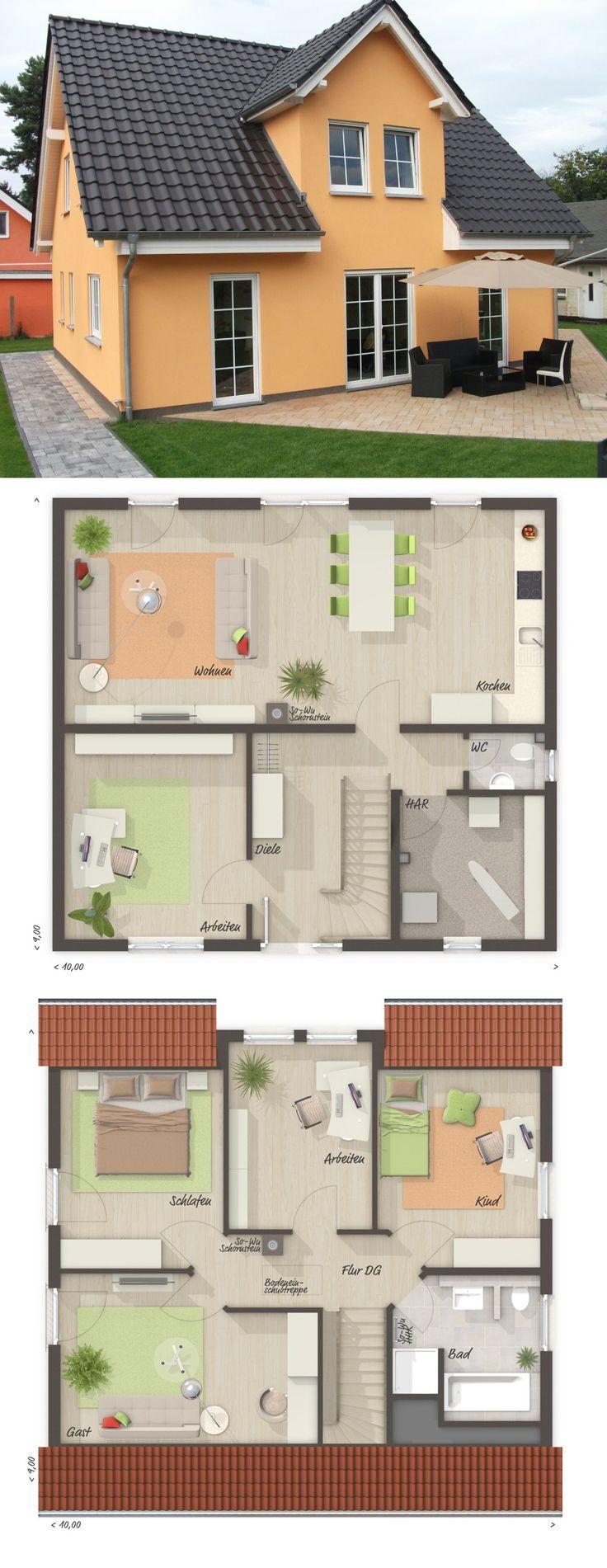 Massivhaus mit Satteldach Architektur & Zwerchgieb…
