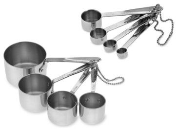 All-Clad Stainless-Steel Measuring Cups & Spoons contemporary-measuring-cups-and-spoons