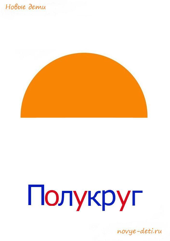 Геометрические фигуры для детей Полукруг
