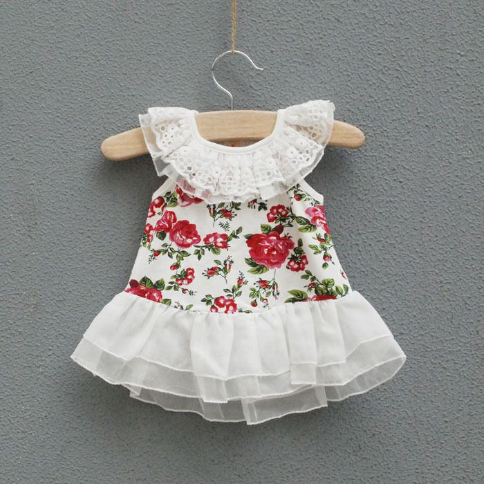 Retail Baby clothes Girls one piece dress summer flora ...