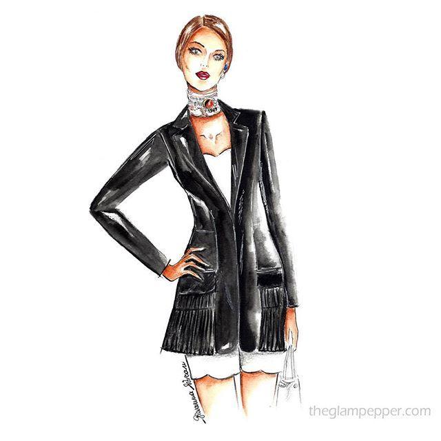 #Buongiorno e benvenuto #settembre!  Questa giacca di #Dior con tasche plissé, è perfetta per questo periodo. . . #fashion #fashionillustration #jacket #christiandior #illustration #illustrazione #bozzetto #moda #fashionsketch #sketch #fashiondraw #watercolor #pencildraw #draw #glam #girl #goodmorning #picoftheday #september #instaart  #artwork #instafashion #fashionblog #giovannasitran www.theglampepper.com