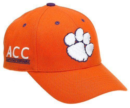 "Clemson Tigers Adult Adjustable Hat, Orange Top of the World. $15.95. Velcro backstrap closure. Primary 3D logo on the front. 0"" wide. Team name on the backstrap. 0"" high. Team color adjustable wool hat. Conference mark on the side"