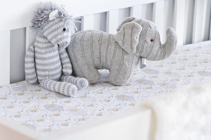 white & grey nursery