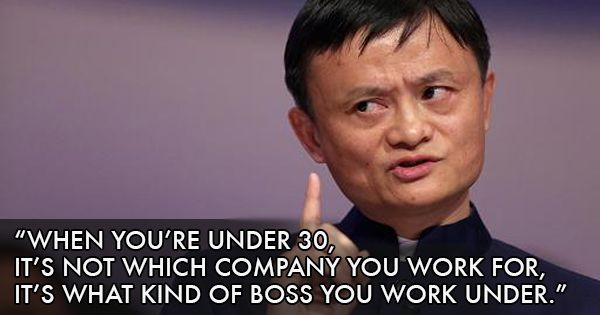 Alibaba Founder Jack Ma's Message For Young Working Professionals Is Some Truly Golden Advice http://www.scoopwhoop.com/inothernews/jack-ma-alibaba-founder-advice/ - Jack Ma: 'What I told my son about education' https://www.techinasia.com/jack-ma-what-told-son-education/