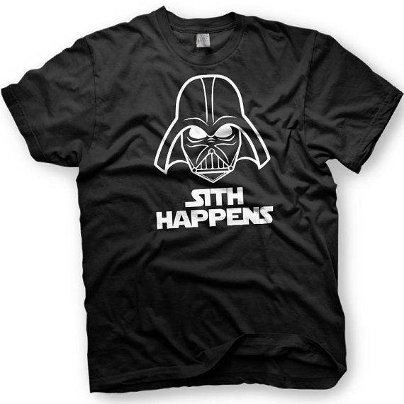 Sith Happens. Darth Vader. Star Wars Tshirt. by CharmCityGear, $12.00