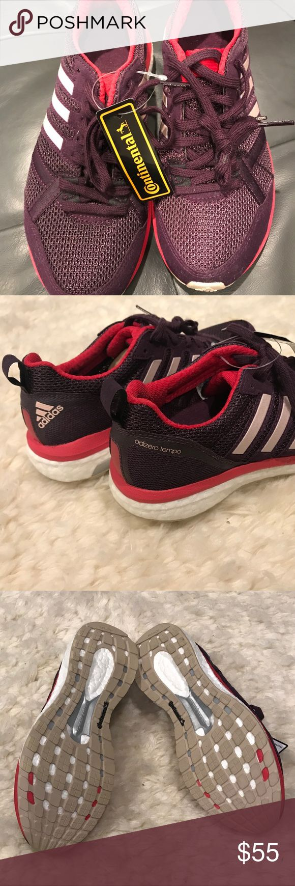 Adidas Boost Endless Energy Sneakers Brand new with tag, never worn plum & fuschia sneakers. Size 6 adidas Shoes Athletic Shoes