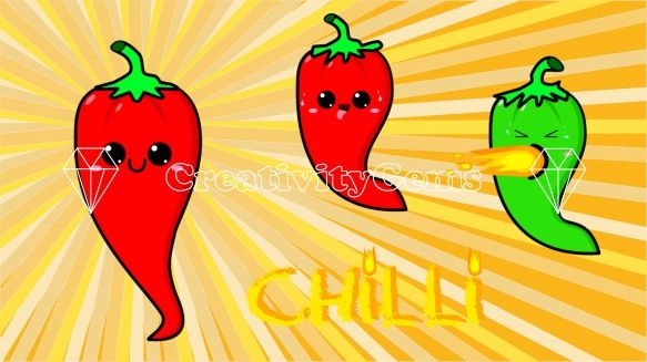 Kawaii red hot chilly peppers