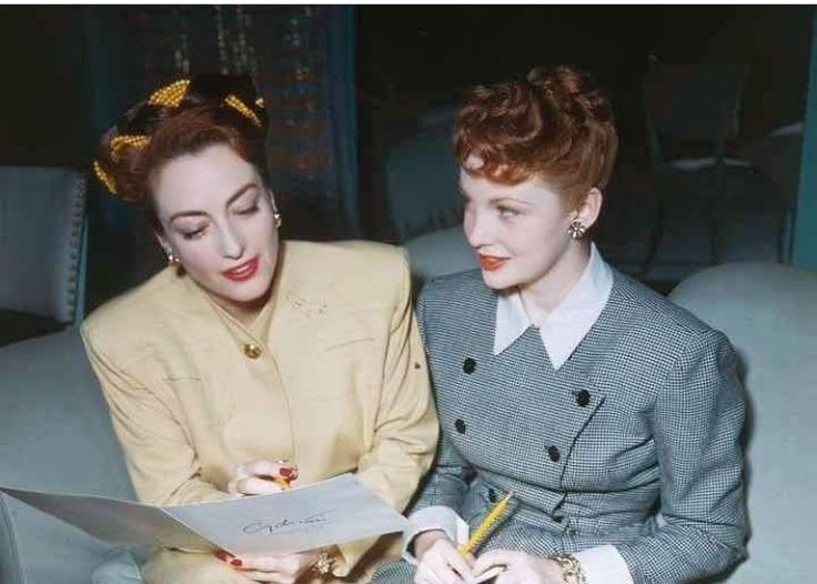 Joan Crawford and Joan Leslie