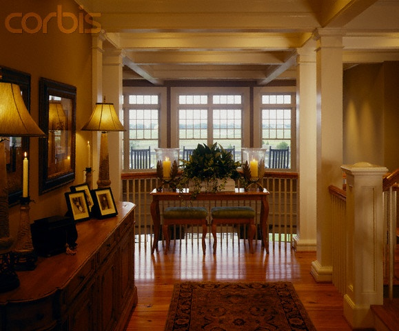 southern foyer | Foyer of a southern plantation style home with hardwood floors - 42 ...