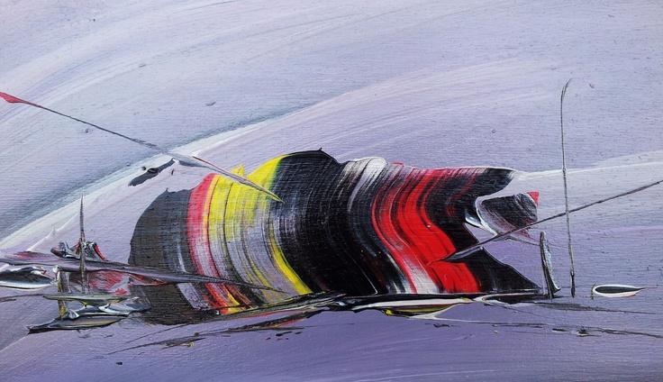 Tramonto fantastico - acrilico su tavola 25x39