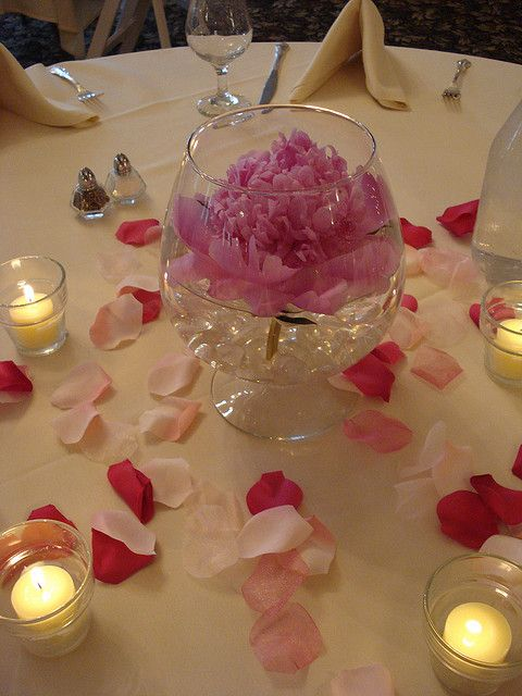 Peony Wedding Centerpieces | Floating Pink Peony Wedding Reception Centerpiece | Flickr - Photo ...