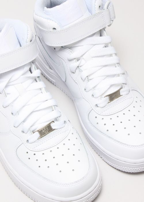 nike air force 1 high top white white shoes pinterest. Black Bedroom Furniture Sets. Home Design Ideas