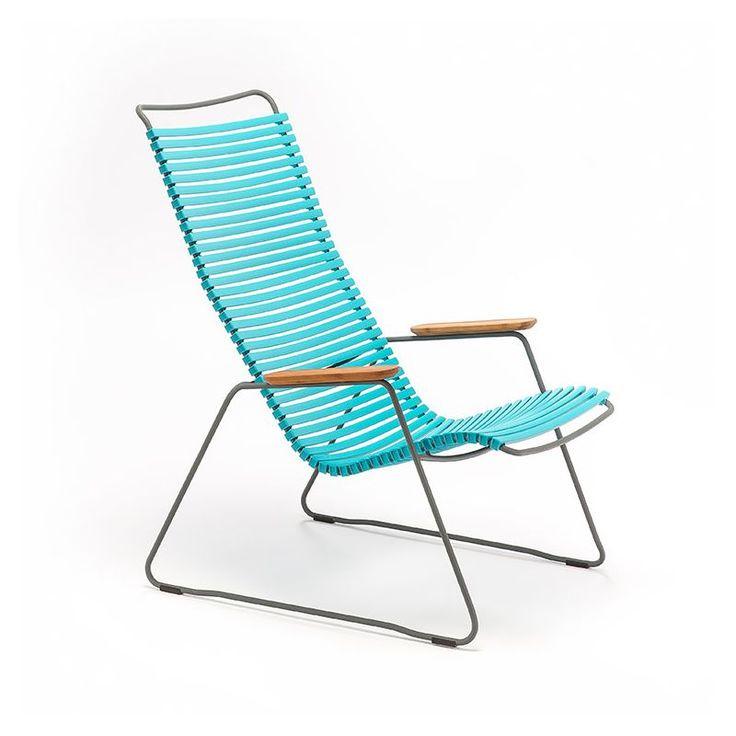 Chaise longue coloris turquoise CLICK Houe