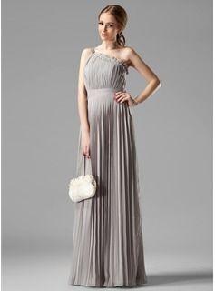 Bridesmaid Dresses - $139.99 - Empire One-Shoulder Floor-Length Chiffon Bridesmaid Dress With Ruffle Beading  http://www.dressfirst.com/Empire-One-Shoulder-Floor-Length-Chiffon-Bridesmaid-Dress-With-Ruffle-Beading-007000957-g957