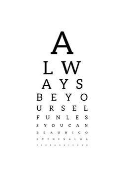 Synstavle med citat - Always be yourself