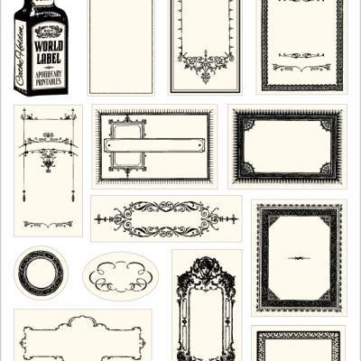 decorative labels for jars decorative design
