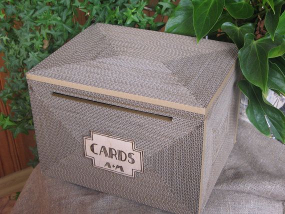 Unique Wedding Card Boxes | Wedding card box, Art deco Card box, Gatsby, Shabby Chic, Rustic, card ...