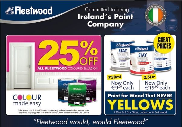 Get 25% OFF All Fleetwood Colour Emulsions! Find in your local Expert Hardware.