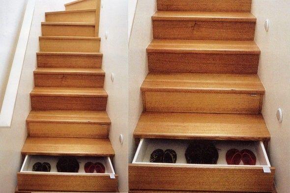 Scale interne, idee per la casa - Scala con cassetti disegnata da Unicraft Joinery