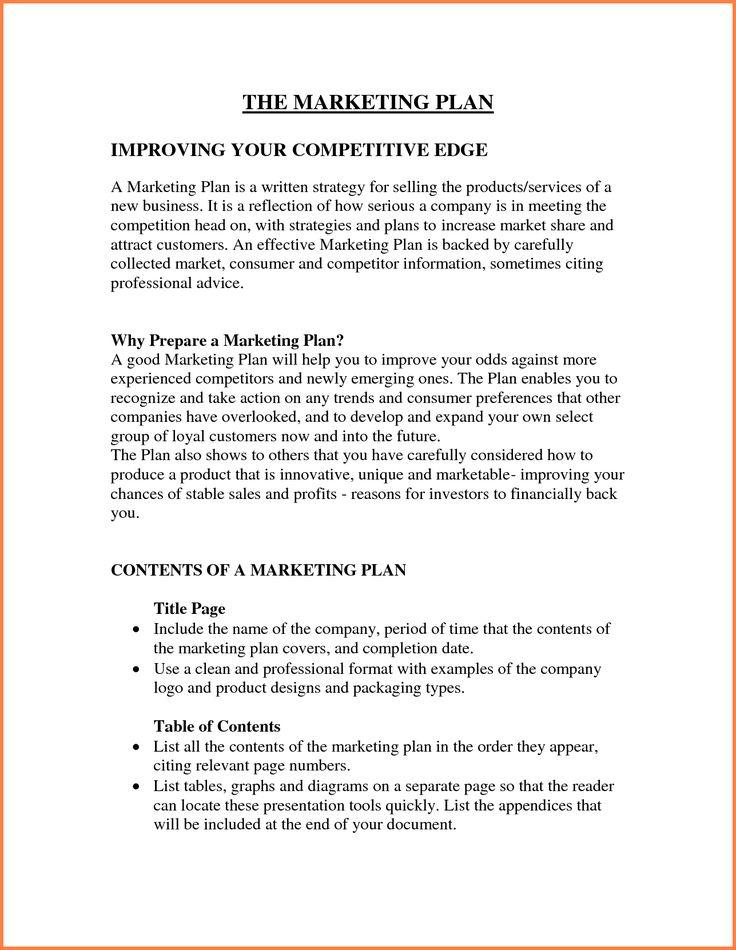 Best  Marketing Plan Outline Ideas On   Startup
