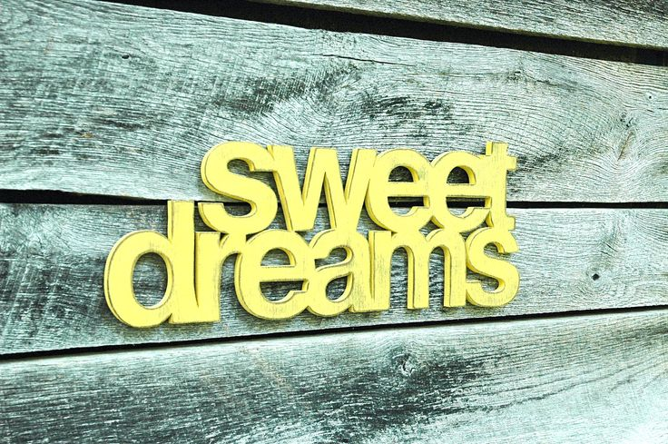 Sweet Dreams Handmade Wall Art Sign Nursery Kids Room Decor. $52.00, via Etsy.